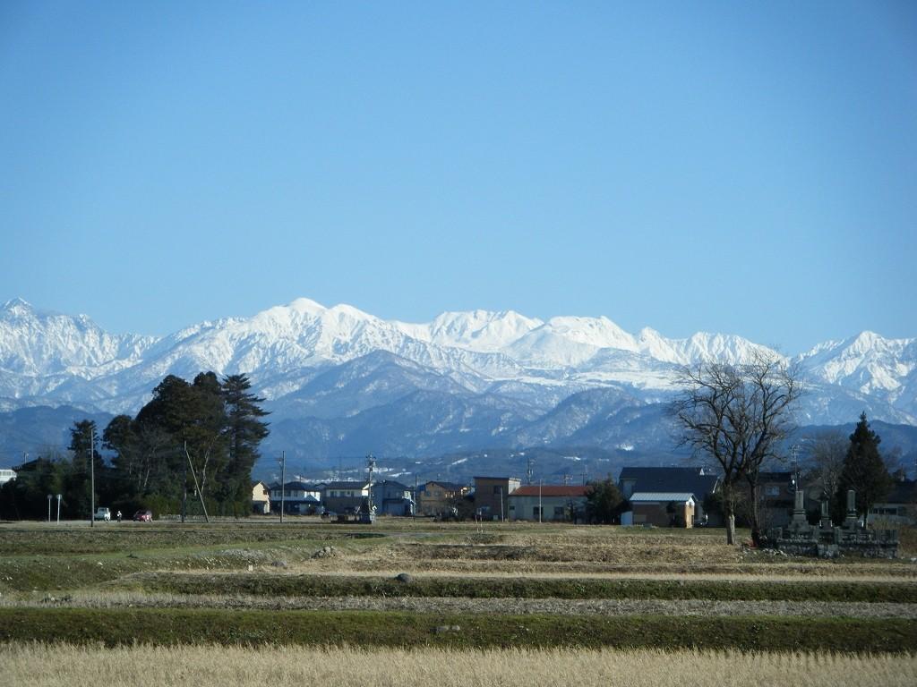 冬の立山連峰
