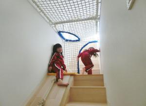階段を活用した遊具