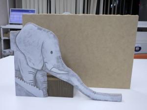 ゾウ 滑り台 模型 遊具