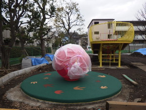 卵のようなかたち(直径1450mmの球)